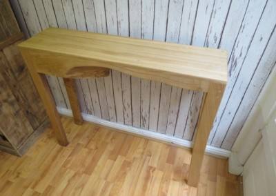 Wavy Oak Console Table