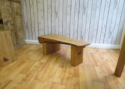 Oak Wedge Bench