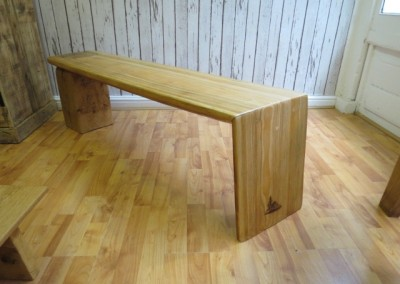 Red Cedar & Block of Oak Bench
