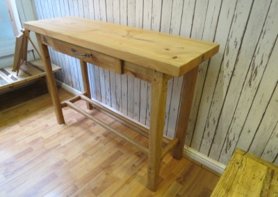 Oak Console Table with Red Cedar Top